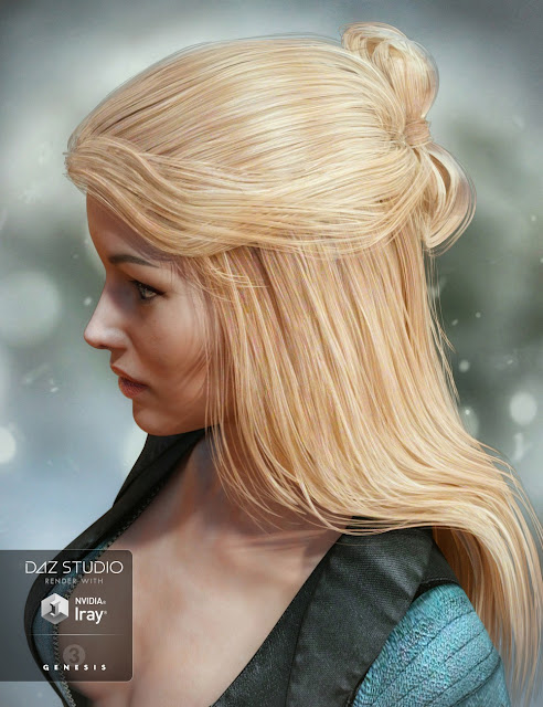 Ohara Hair for Genesis 3 Female