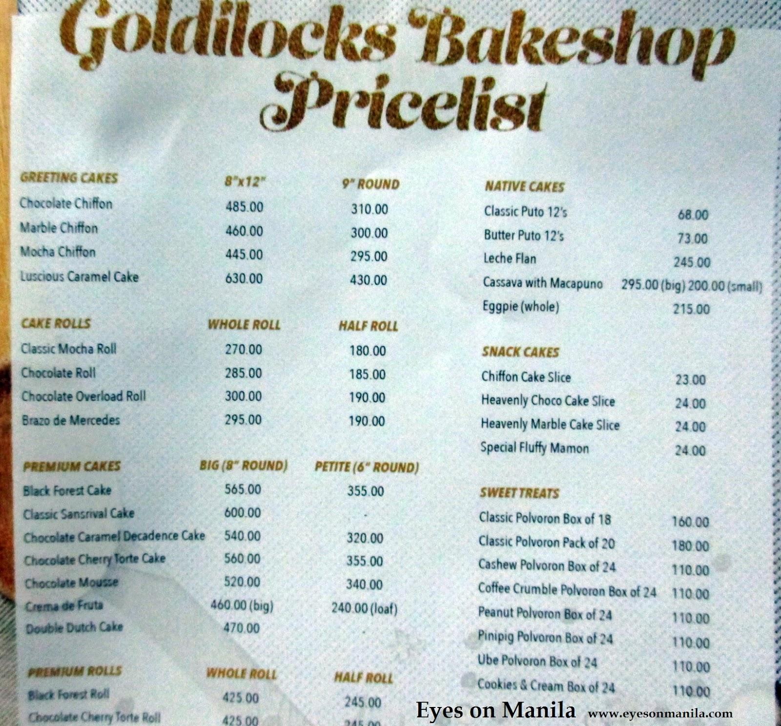 Goldilocks Philippines Birthday Cake Design
