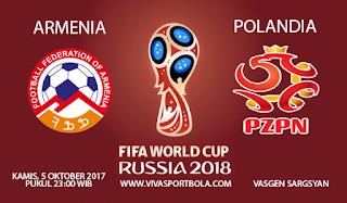 Prediksi Armenia vs Polandia 5 Oktober 2017