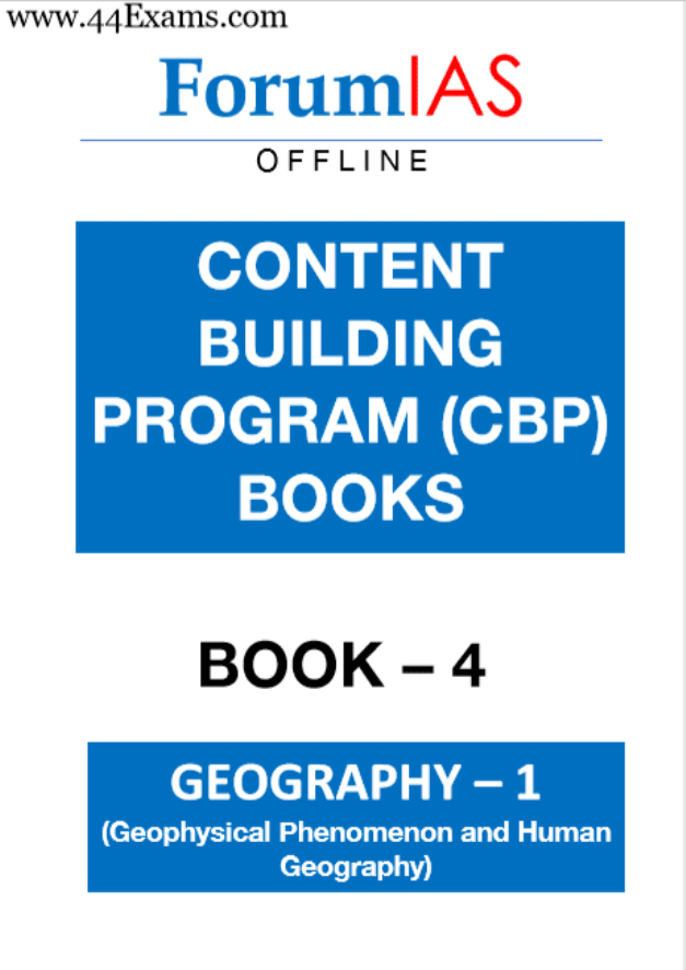 Forum-IAS-Geography-Geophysical-Phenomenon-and-Human-Geography-For-UPSC-Exam-PDF-Book