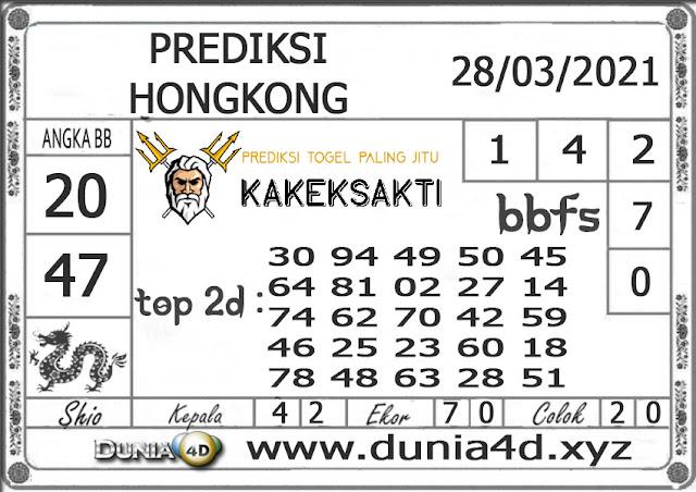 Prediksi Togel HONGKONG DUNIA4D 28 MARET 2021