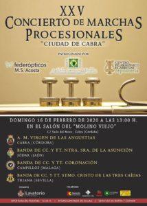 """XXV Concierto de Marchas Procesionales """"Ciudad de Cabra"""""""