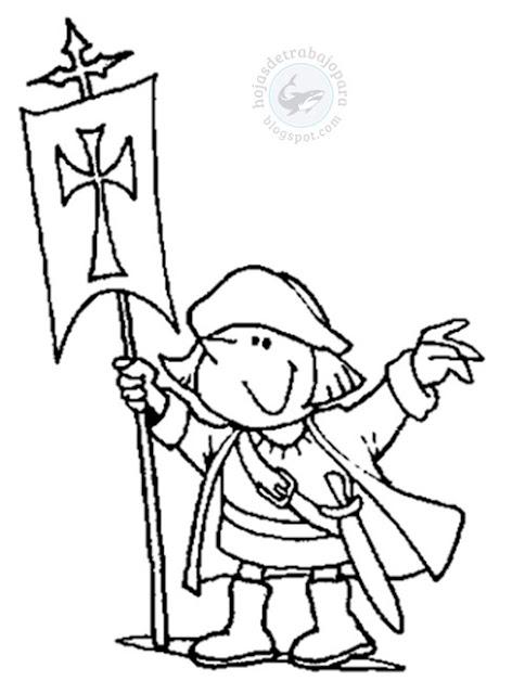 Dibujo de Cristóbal Colón para pintar