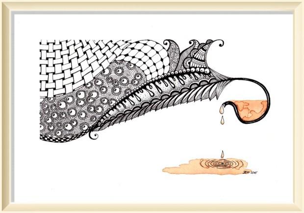 Herbaciana sztuka inspirowana Zentangle