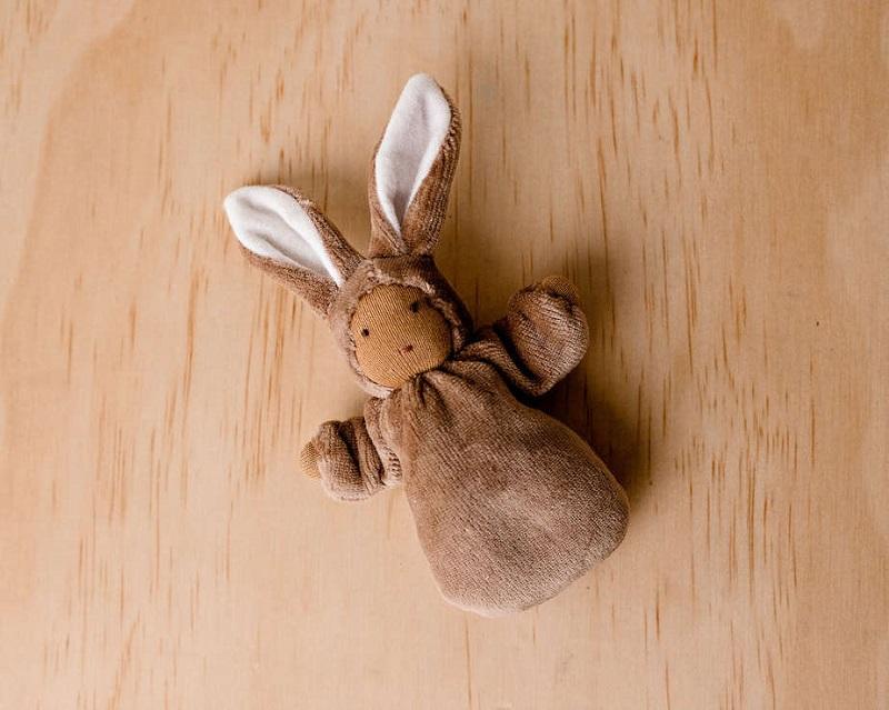 waldorf pocket bunny doll