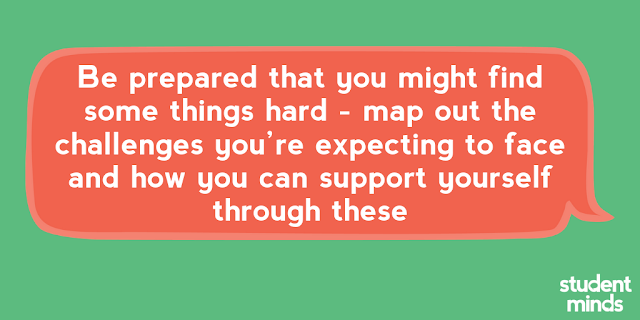 'Be prepared that you might find some things hard - map out the challenges you're expecting to face and how you can support yourself through these'
