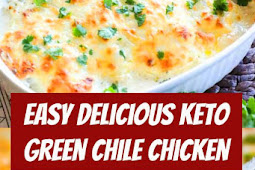 Easy Keto Green Chile Chicken Recipe #keto #chicken #lowcarb #easydinner #comfortfood