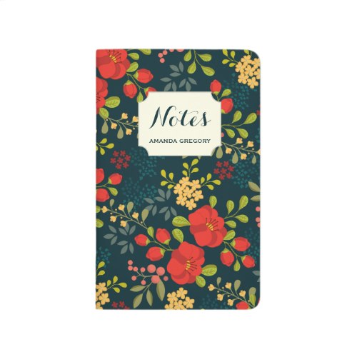English Garden - Beautiful Personalized Pocket Journal