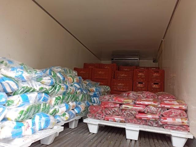 Governo do Ceará envia 5,8 toneladas de alimentos para famílias desabrigadas de Pentecoste