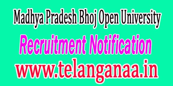 MPBOU (Madhya Pradesh Bhoj Open University) Recruitment Notification 2016