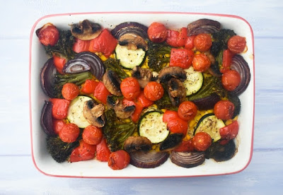 Roasted Vegetable Rice Bake - Step 9 - Serve (final baked dish)