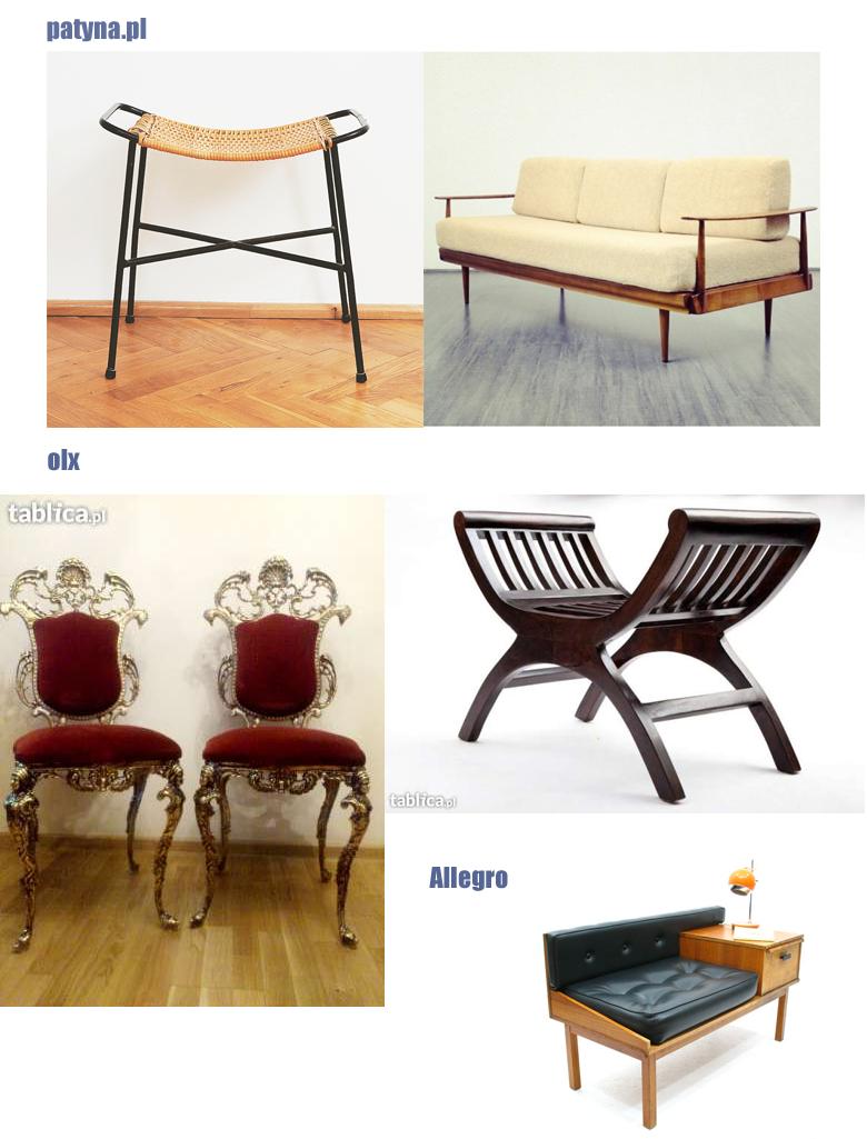 gdzie kupić meble używane? aukcje internetowe. wnętrza.