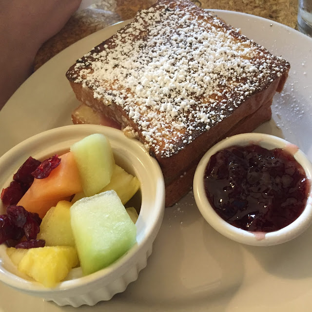 Monte Cristo with Fresh Fruit and Strawberry Jam at Town House Books and Cafe