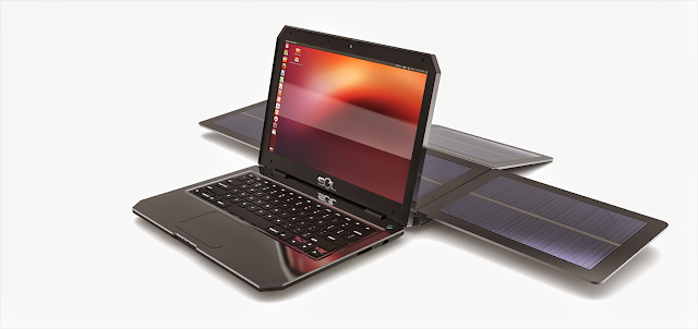 SOL - Notebook com Ubuntu movido a energia solar