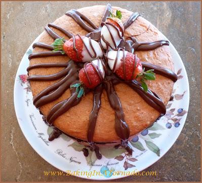 Chocolate Strawberry Brownie Cake | recipe developed by www.BakingInATornado.com | #recipe #cake