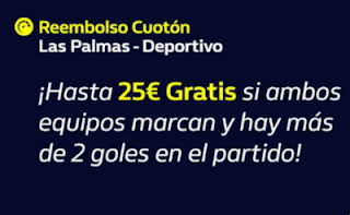 william hill Reembolso Las Palmas vs Deportivo 13-10-2019