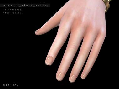 Natural Short Nails - For females
