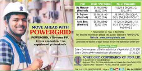 PGCIL Assistant Engineer Recruitment