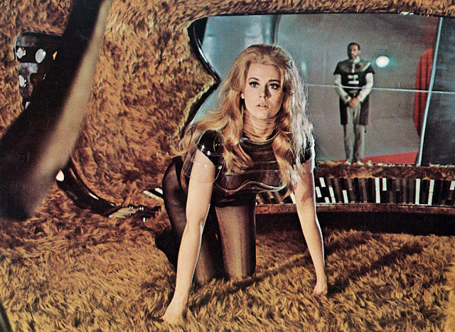 Jane Fonda doggy style in Barbarella 1968