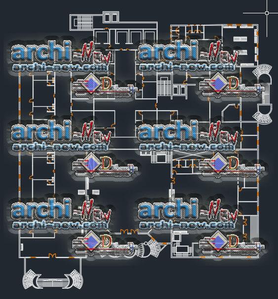 Télécharger le fichier Autocad Architecture Cad Dwg l'hôpital désign conception