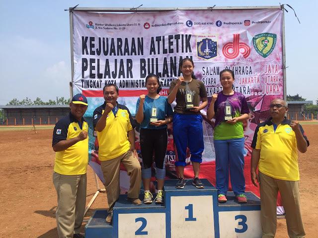 SMAN 110 Raih Prestasi Event Atletik Pelajar Bulanan Jakarta Utara 2019