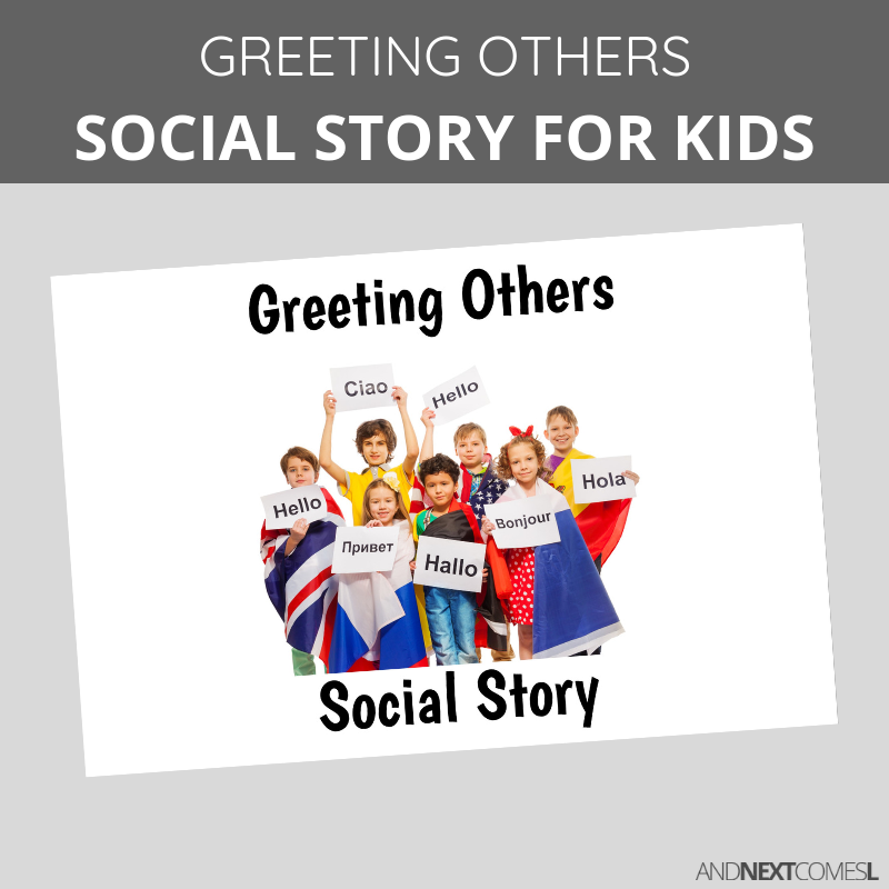 This is a picture of Crafty Printable Social Stories