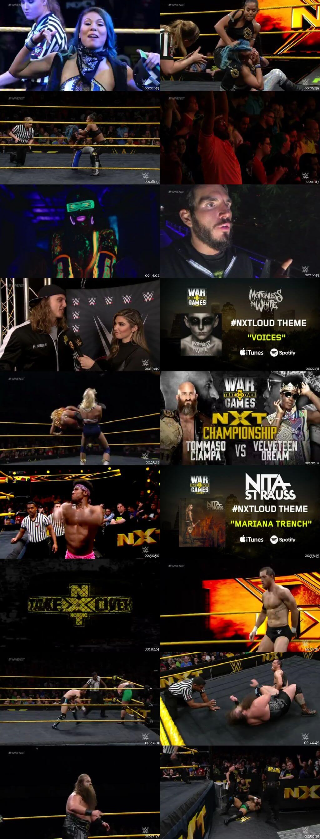 Screen Shot Of WWE NXT 14th November 2018 HDTV 480P 300MB