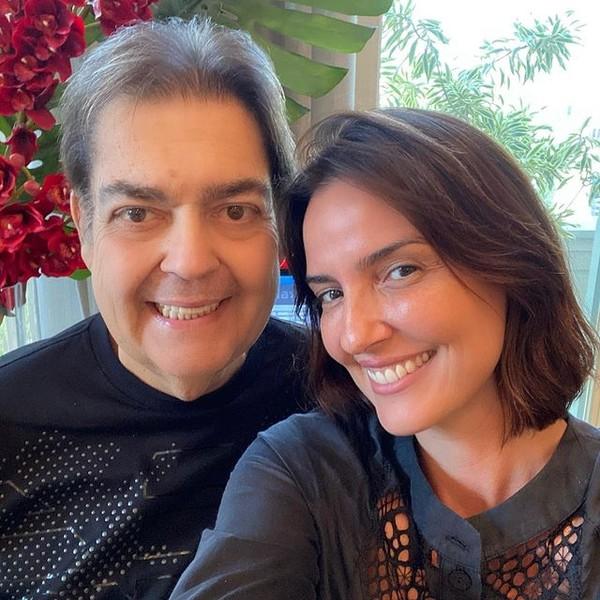 Fausto Silva e Luciana Cardoso – (Foto: Reprodução Instagram).