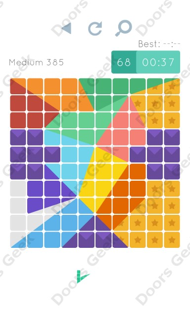 Cheats, Walkthrough for Blocks and Shapes Medium Level 385
