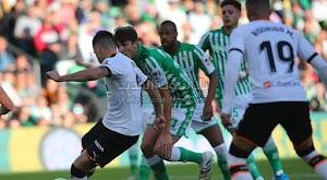 ريال بيتيس يحقق الفوز على فريق فالنسيا بهدفين لهدف في الجولة الرابع عشر من الدوري الاسباني