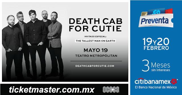 Death Cab For Cutie en Ciudad de México