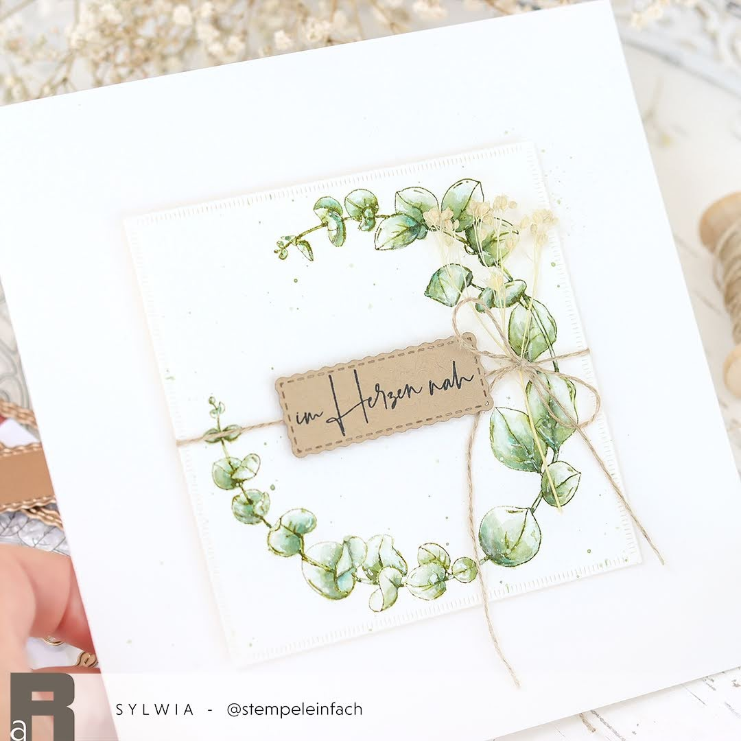 Aquarell-Eukalyptus-Renke