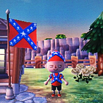Confederate Rebel Villager Animal Crossing