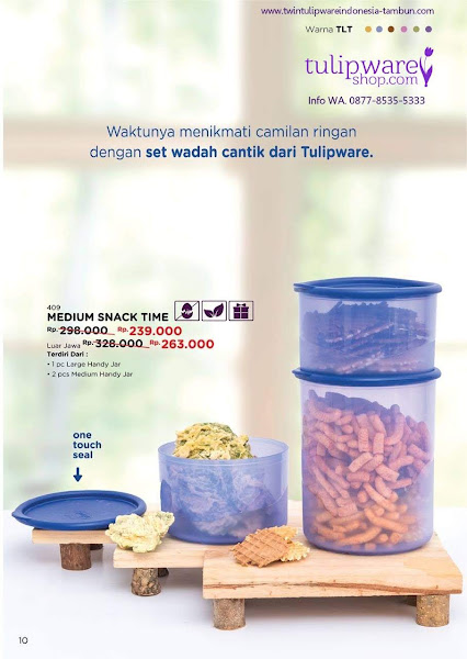 Promo Diskon Tulipware Oktober 2018, Medium Snack Time