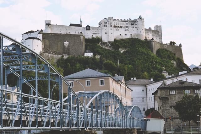 Salzburg Mozartsteg Hohensalzburg Fortress