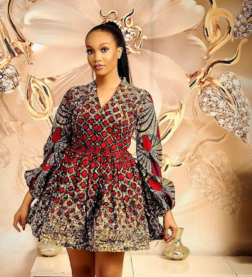 Latest Ankara Short Flare Styles For Ladies