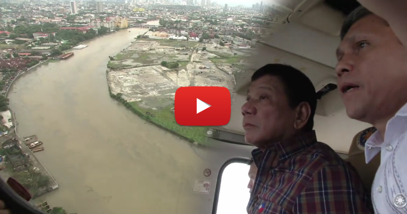 President Duterte leads aerial inspection over some areas in Manila affected by flood