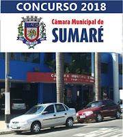 Edital concurso Câmara de Sumaré 2018
