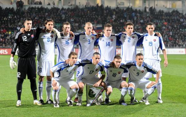 Formación de Eslovaquia ante Chile, amistoso disputado el 17 de noviembre de 2009