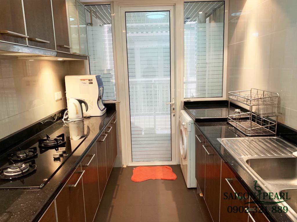 Căn hộ cho thuê 2PN Saigon Pearl Ruby 1 - phòng bếp