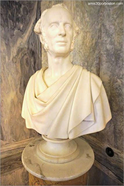 Busto de Cornelius Vanderbilt en la Sala de Billar de la Mansión The Breakers, Newport