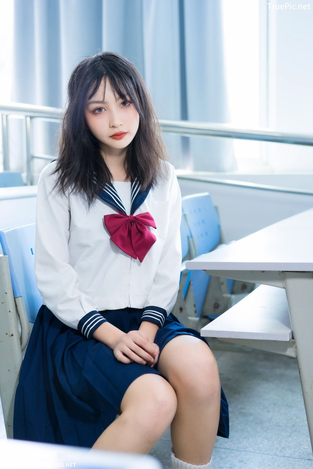 Image MTCos 喵糖映画 Vol.014 – Chinese Cute Model With Japanese School Uniform - TruePic.net- Picture-9
