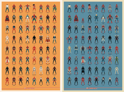 """Spider-Verse"" Marvel Spider-Man Screen Prints by DKNG x Mondo"