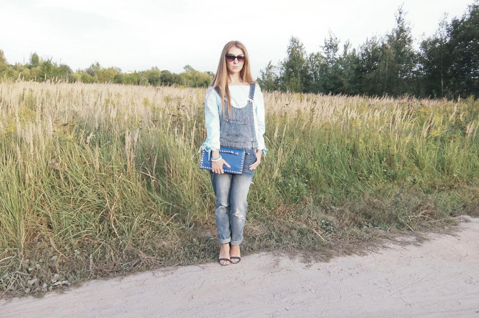jak nosic bluzke z odkrytymi ramionami jesienią