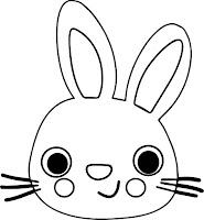 Mascaras de conejos para imprimir y colorear