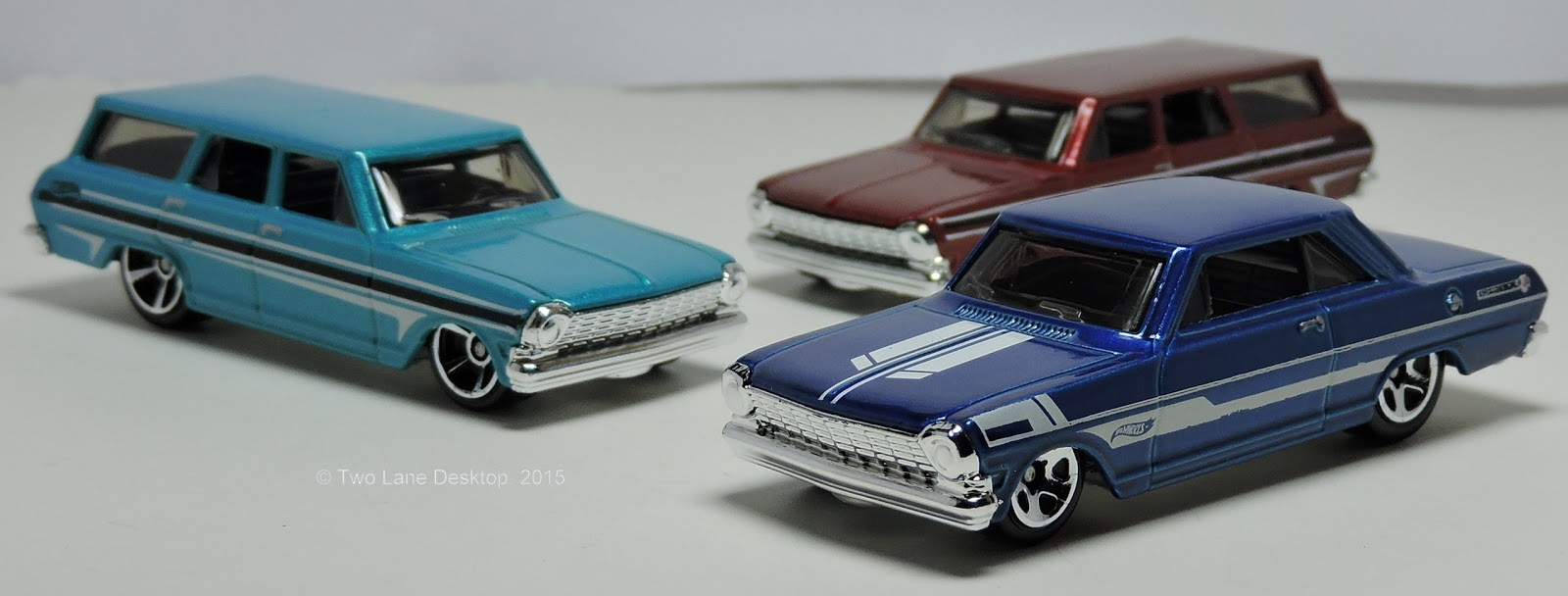All Chevy 1964 chevy ii : Two Lane Desktop: Hot Wheels 1963 Chevy II and 1964 Chevy Nova Wagon