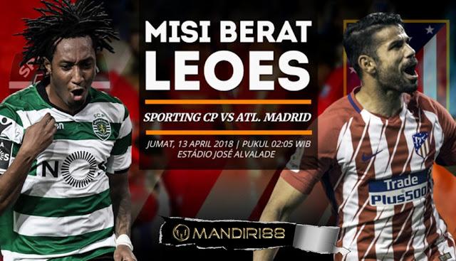 Prediksi Sporting Lisbon Vs Atletico Madrid, Jumat 13 April 2018 Pukul 02.05 WIB