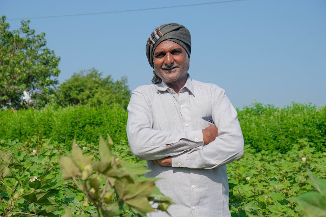 A farmer participating in the Better Cotton Initiative Programme