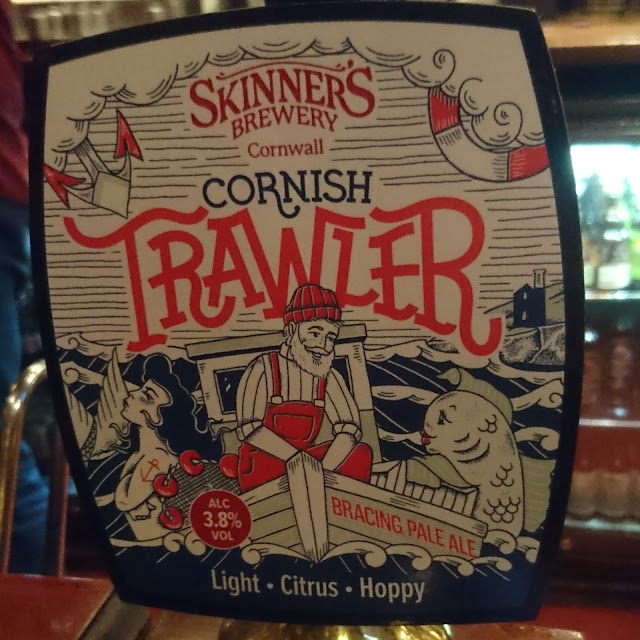 Cornish Trawler from Skinner's Brewery real ale craft beer pump clip