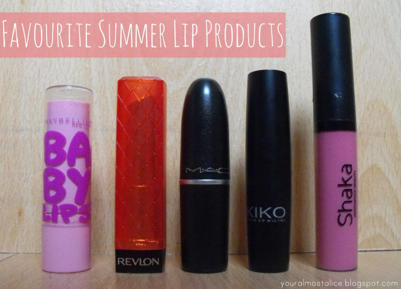Favourite Summer Lip Products
